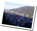 view from Heidelberg`s Philosophenweg
