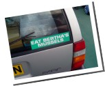 Eat Bertha`s Mussels bumper sticker